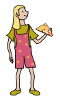 Pippa with pizza 33